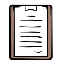 medical report icon cartoon vector image