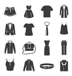 set female male dress clothes black vector image