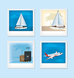set of vacations photos vector image