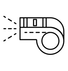 sport whistle icon outline style vector image