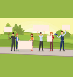 Street promotional campaign flat vector