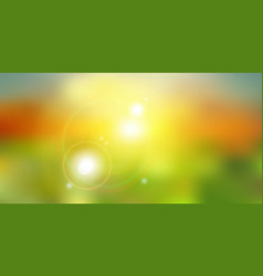 summer sunlight on green nature blurred background vector image