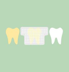 Teeth whitening strip vector