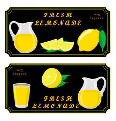the set lemonade vector image