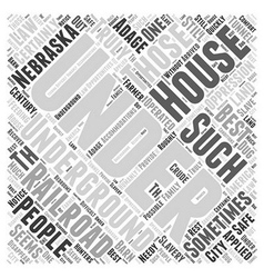 The Underground Railroad Word Cloud Concept vector