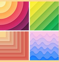 Trendy geometric gradient background pack vector image