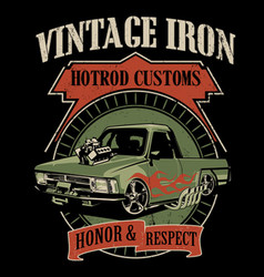 Vintage iron vector