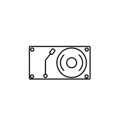 vinyl music player icon vector image