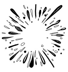Water explosion or star burst doodle sunburst vector