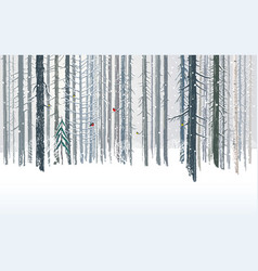 winter forests background combined from forest vector image