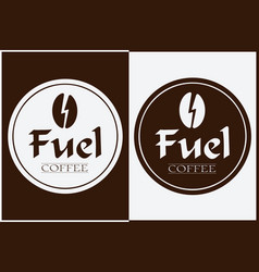 coffee shop logo design labels template vector image