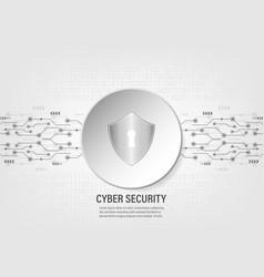 digital shield on binary code background vector image