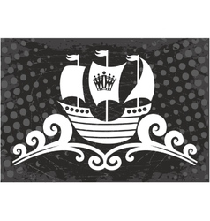 Ocean Ship sign vector image