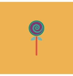 Spiral candy flat icon vector image vector image