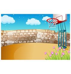 Street Basketball Background vector image