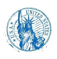 USA logo design template United States or vector image