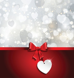 valentines day ribbon background 0701 vector image vector image