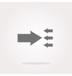 arrow icon web button isolated on white vector image
