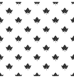 Autumn leaf pattern simple style vector image vector image