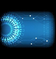 Blue Technology Number Background vector image