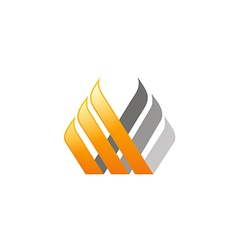 Business finance logo abstract vector