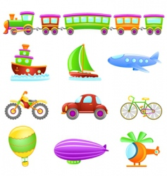 cartoon transportation vector image vector image