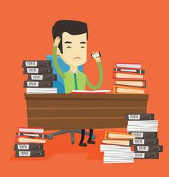 despair business man working in office vector image vector image