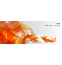 Orange geometric transparency vector image vector image