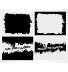 Set of abstract grunge frame texture background vector