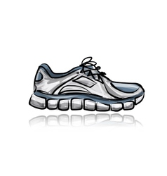 Sport sneakers sketch for your design vector image