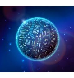 techno globe vector image