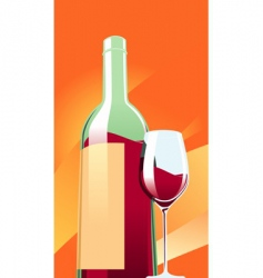 wine with a glass vector image vector image
