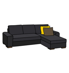 big black sofa vector image