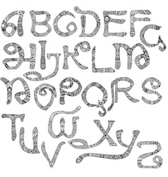 decorated latin alphabet vector image vector image