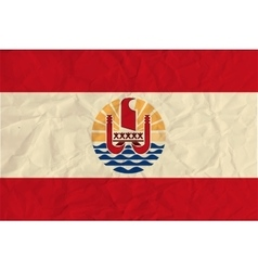 French Polynesia paper flag vector image