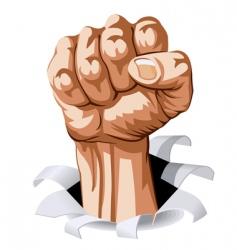 man fist vector image vector image