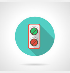 railroad semaphore blue round icon vector image vector image