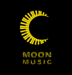 moon logo as piano keyboard icon simple style vector image