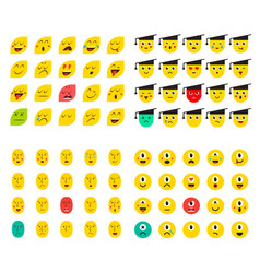 78 smileys set vector image
