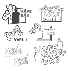 A set of electronic cigarette logos vector image