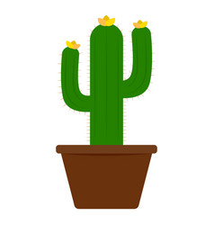 abstract cute cactus vector image