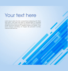 Abstract oblique rectangle background in blue vector