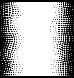 abstrat halftone black dots vertical seamless vector image