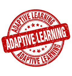 adaptive learning red grunge stamp vector image