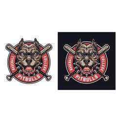 Baseball team colorful badge vector