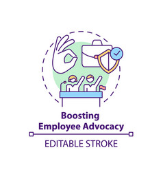 Boosting employee advocacy concept icon vector