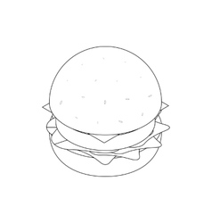 Burger icon isometric 3d style vector