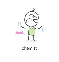 Cartoon man chemist vector