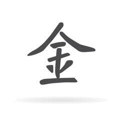 chinese character metal1 vector image