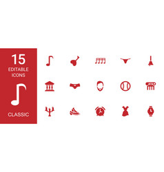 classic icons vector image